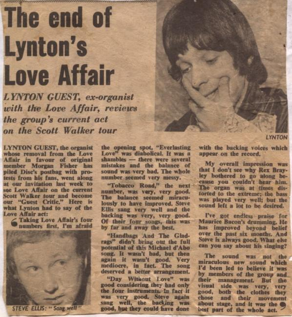 The Love Affair and Steve Ellis picture gallery